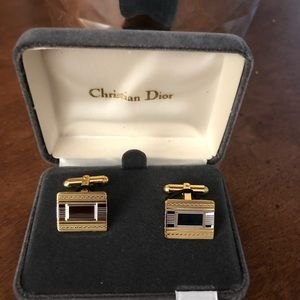 Christian Dior Men's silver/gold cuff links
